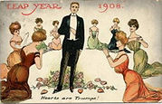 LEAP YEAR 1908. Hearts are Trumps!