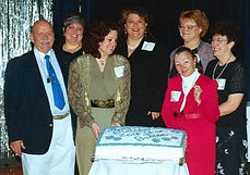 7 Leapies Celebrating in Salem, Oregon, Leap Year Day 2000.