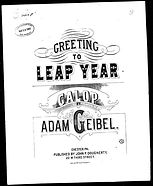 Greeting to Leap Year Galup