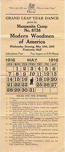 GRAND LEAP YEAR DANCE May 10, 1916