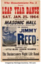 Leap Year Dance Sat. Jan. 25th 1964 Jimmy Reed