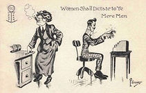 P. Crosby 1912 LEAP YEAR Women Shall Dictate To Ye Mere Men