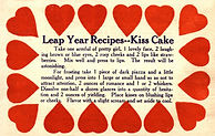 Leap Year Recipe -- Kiss Cake
