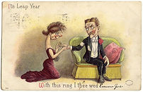 IT'S LEAP YEAR With This Ring I Thee Wed. 1908