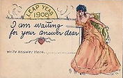 LEAP YEAR 1908 I am waiting for your answer dear.