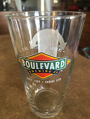 BOULEVARD BREWING BEER GLASS LEAP YEAR 2012 ONE MORE DAY TO DRINK GOOD BEER