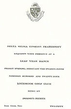 LEAP YEAR DANCE February 26, 1924