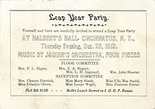 Leap Year Party December 25, 1912