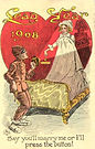 LEAP YEAR 1908 Crane Say Youll Marry Me Or Ill Press The Button