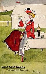 "LEAP YEAR GOODS ""WARRANTED FAST dye."" 1904"