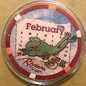 RIVIERA FEBRUARY 29, 2004 $5 LTD 500