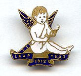 Leap Year 1912 Pendant of Cupid.