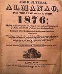 AGRICULTURE ALMANAC 1876