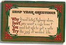 LEAP YEAR GREETINGS Why Don't You Try
