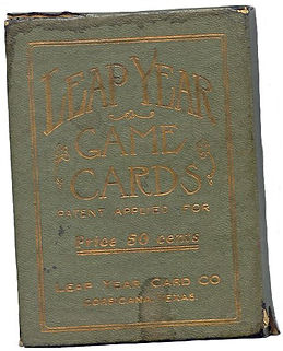 Leap Year Game Cards 1912