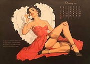 February 1954 Calendar with Leap Year poem.