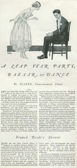 A LEAP YEAR PARTY, BAZAAR, OR DANCE