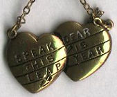 SPEAK DEAR THIS IS LEAP YEAR bracelet and charm. LeapinLind, Owner