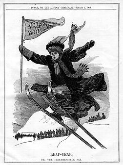 PUNCH, OR THE LONDON CHARIVARL - January 1,1908   LEAP-YEAR  OR, THE IRREPRESSIBLE SKI