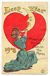 LEAP YEAR 1908 Crane Make A Try For The Man In The Moon