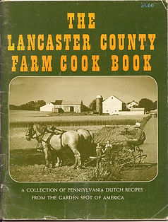 Lancaster Cookbook with Leap Year Cake recipe.