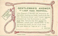 Gentlemans Answer To LEAP YEAR Proposal