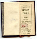 Walker's Ruby Diary 1940 (Leap Year) Tiny Calendar Book