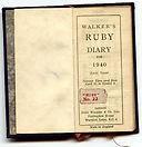 Walker's Ruby Diary 1940 (Leap Year) Tiny Calendar Book