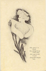This Flower In Bloom LEAP YEAR 1912