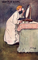 """LEAP YEAR GOODS """"KEEPS ITS COLOR"""" 1904"""