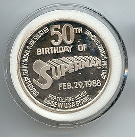Superman's 50th Birthday February 29, 1988 Coin