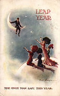Fred Spurgin LEAP YEAR The Only Man Safe this Year. 1912