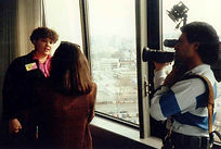 Raenell Being Interviewed By A Seattle News Station About Leap Day.Raenell Being Interviewed By A Seattle News Station About Leap Day.