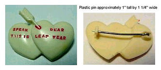 SPEAK DEAR THIS IS LEAP YEAR Plastic Pin
