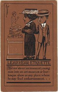 Leap Year Etiquette 1912