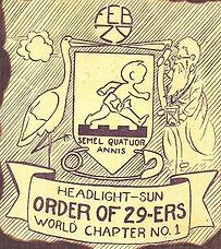 HEADLIGHT-SUN ORDER OF 29-ERS WORLD CHAPTER NO. 1