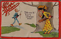 DWIG 1912 IT'S LEAP YEAR  Sh-ss-sh! here comes one!