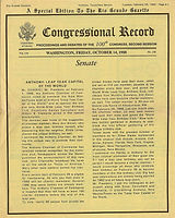Leap Year Capital of the World Congressional Record