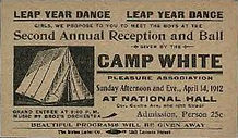 LEAP YEAR DANCE April 14th Leap Year 1912