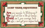 LEAP YEAR GREETINGS Are You Afraid To