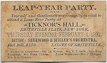 LEAP-YEAR PARTY February 4, 1892