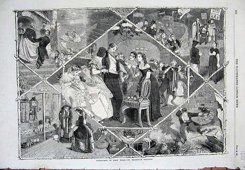 THE ILLUSTRATED LONDON NEWS  CHRISTMAS IN LEAP YEAR - by FLORANCE CLAXTON