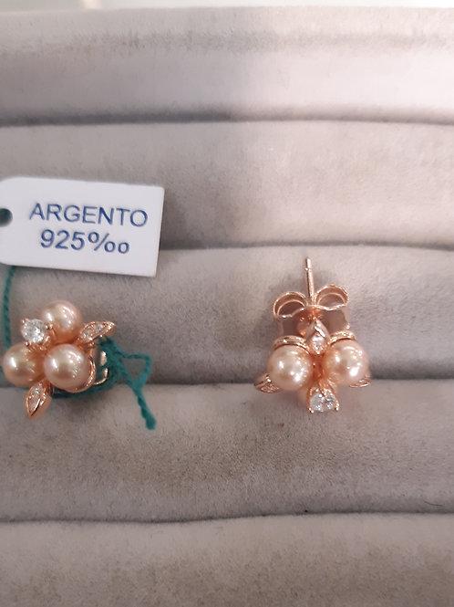 orecchino argento e zirconi