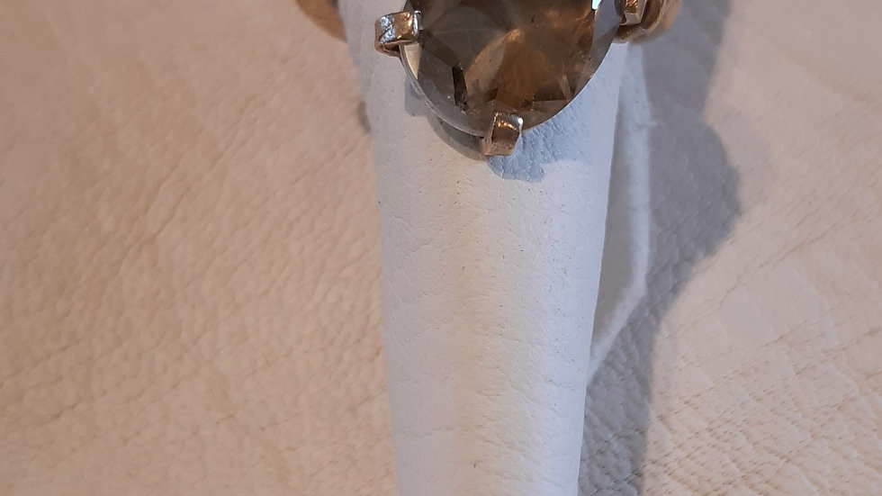 anello argento e quarzo