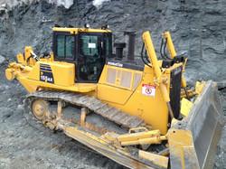 Practicando en bulldozer