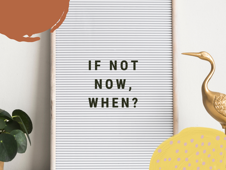 Don't wait. Do this now.