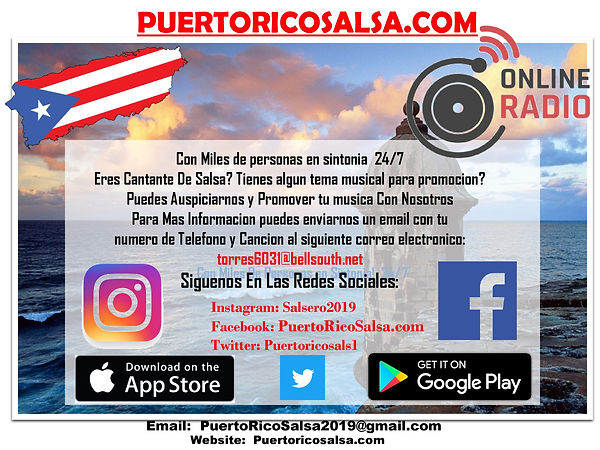 Flyer for puertoricosalsa.com 6-28-2020.