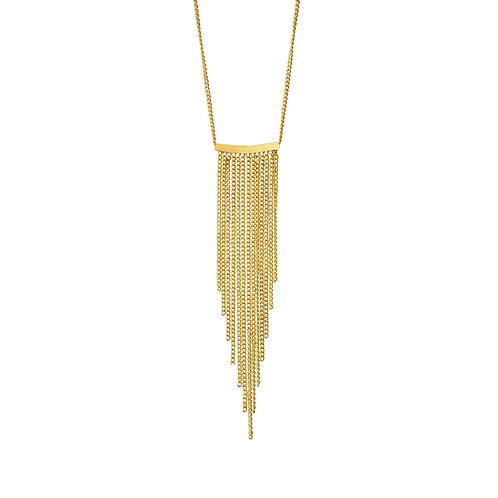 Alaya Chain Necklace Gold - by Dansk