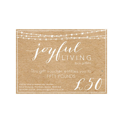 Joyful Living Gift Voucher £50
