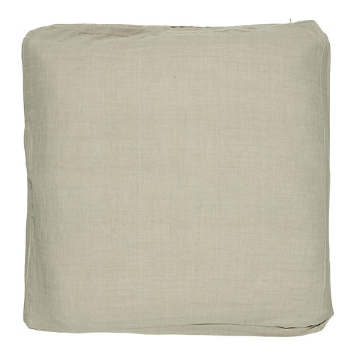 Cotton Box Cushion Taupe